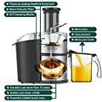 "KOIOS Centrifugal Juicer Machines, Juice Extractor with Big Mouth 3"" Feed Chute, 304 Stainless-steel Fliter, Best Seller…"
