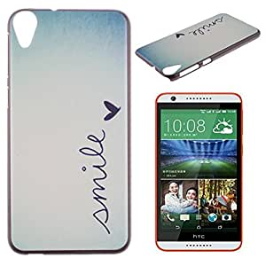 HTC Desire 820 Case, IVY Smile Graphic,Snap-on PC Hard Case Cover Skin For HTC Desire 820