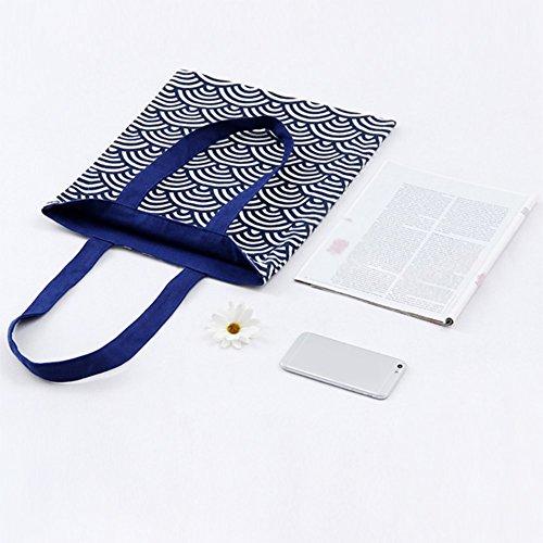 Provisions Chytaii Shopping Géométriques à à Bandoulière Femmes Sac à Motifs Portable Rangement de Filles Sac Epaule Sacs bleu BqEnErg