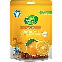 Happi Doggy Gluten Free Dog Treats - Orange - Complete Dental Care with Omega 3 & 6 for Healthy Coat Dog Treats 150 GMS