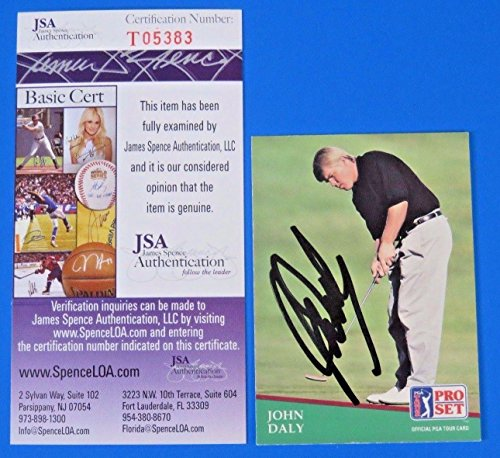 - John Daley Signed 1991 Pro Set Golf Card #93 ~ T05383 ~ - JSA Certified - Autographed Golf Cards