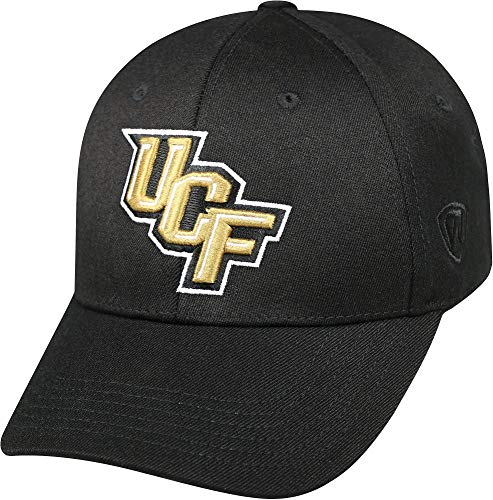 (Top of the World NCAA Central Florida Golden Knights Memory Fit Wool Blend Hat, One Size, Black)