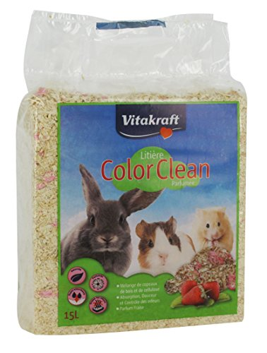 (Vitakraft Color Clean Scented Strawberry for Small Animal Litter 15Litre)