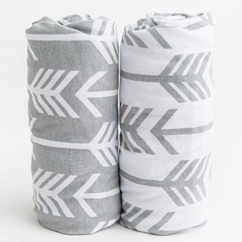 Changing Pad Cover   Arrows   100% Premium Jersey Knit Cotton   Super Soft and Safe for Babies   Changing Pad Cover for a Standard Baby Change Pad   2 Pack