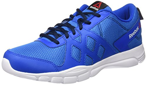 Reebok Trainfusion Nine - Zapatillas de deporte, Hombre Azul / Blanco / Negro (Blue Sport / Collegiate Navy / White / Black)