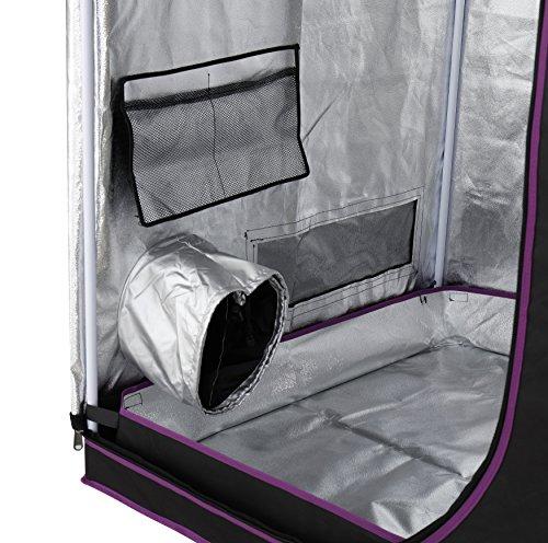 Finnhomy full range multiple sized grow tent 600d mylar for Mylar flooring