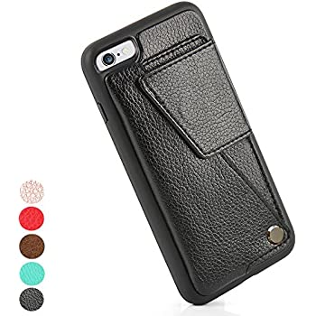 iPhone 6s Plus Wallet Case, ZVE Shockproof iPhone 6 plus Credit Card Holder Case, Protective ID Card and Driver License case for Apple iPhone 6 Plus / 6S Plus (5.5inch) - Black