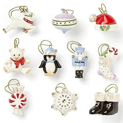 a23ff1b6da67c Amazon.com  Lenox Christmas Memories 10 Piece Ornament Set  Home   Kitchen