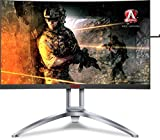 AOC Agon AG273QCX 27' Curved Gaming Monitor, 2K QHD, FreeSync 2 DisplayHDR 400, 144Hz, 1ms, Height Adjustable, DisplayPort/HDMI, VESA, 4-Yr Zero Dead Pixel Guarantee