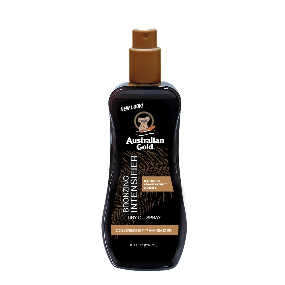 Australian Gold Bronzing Intensifier Dry Oil Spray, 8 Ounce | Colorboost Maximizer (AGDOBS)