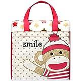 Baby Starters Blanket N Tote To Go Sock Monkey, Red/brown