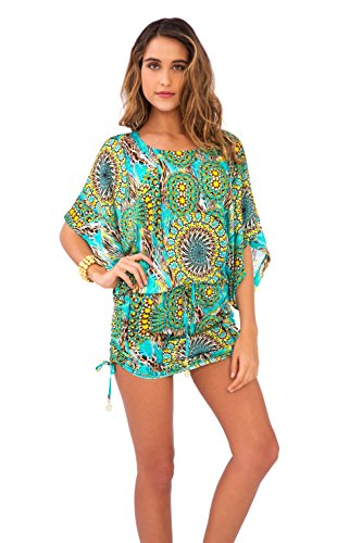 Luli Fama Women's Moon Princess Tunic Swim Cover Up Multi S