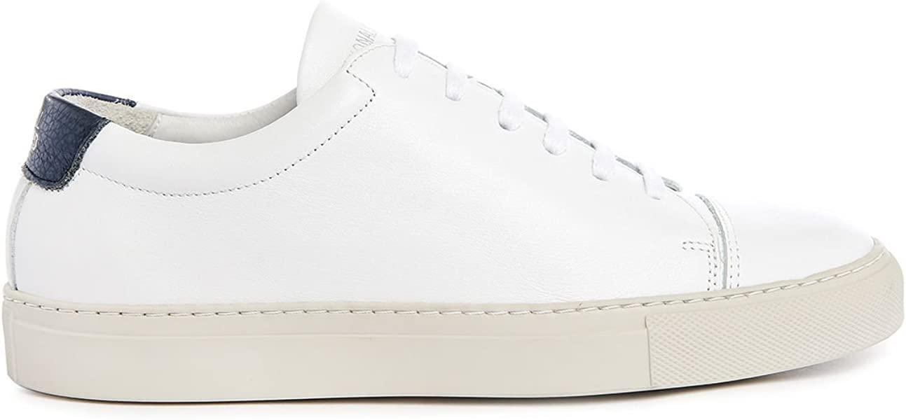 huge selection of f5bc5 4e694 NATIONAL STANDARD - Baskets basses - Homme - Sneakers Edition 3 Cuir Blanc  Contraste Bleu pour