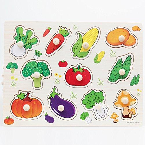 MagiDeal Wooden Vegetable Toldder Preschool