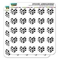 Cow Print Black White Heart Shaped Planner Calendar Scrapbook Craft Stickers