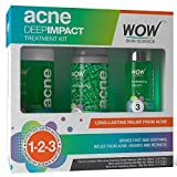 WOW Acne DEEP IMPACT TREATMENT KIT – STEP 1-2-3 – Acne Spot Therapy – No Parabens – No Sulphate