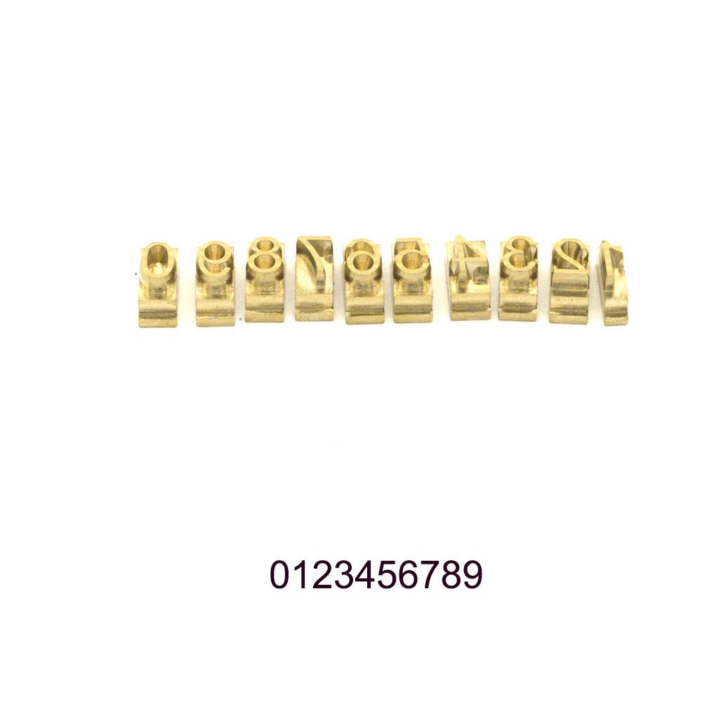 0~9 , AvantGarde BK BT Numbers Multi-Function Digital Foil Hot Stamping Logo Embossing Brass Alphabets Label Bronzing Machine Brass Leather Wood Stamp Embosser Tool Set