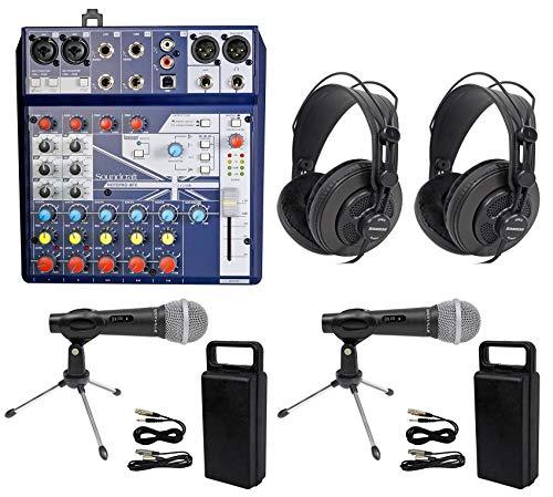 Podcast Kit Soundcraft Mixer+Headphones+Mic+Stand ()