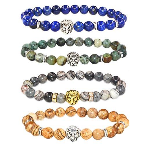 MIKINI Healing Gemstone Stretch Bracelet