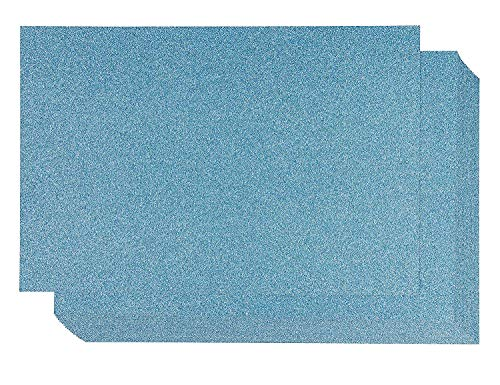 - Glitter Cardstock Paper - 24-Pack Blue Glitter Paper for DIY Craft Projects, Birthday Party Decorations, Scrapbook, Double-Sided, 250GSM, 8 x 12 inches