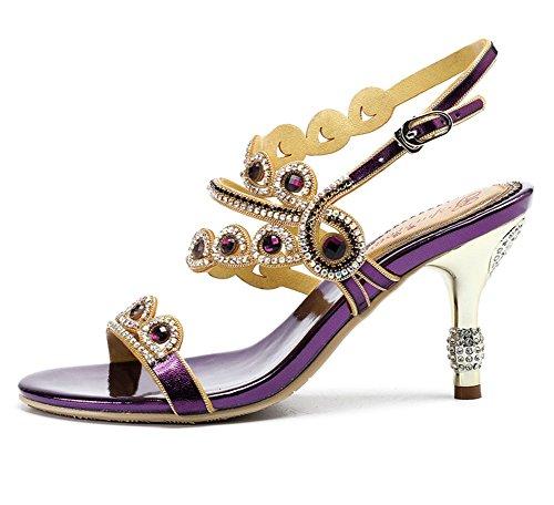 4 Violet Moyens À Sandales Nuptiale De Eur Robe Mariage Talons Zpl Soirée uk Diamant Mariée Femme 36 Soirée fwnEq5IxTO