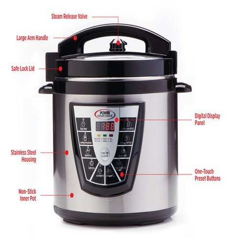 Power Pressure Cooker XL Flavor Infusion Technology 6-Quart image