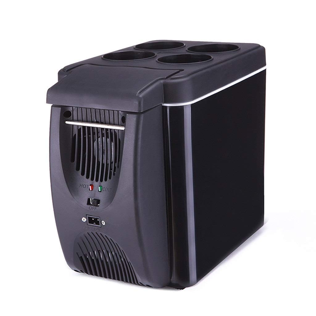 Lcxligang 6L Car Refrigerator, Portable Small-Sized Dual-use Mini Refrigerator, Environmentally-Friendly Silent Car Dual-use