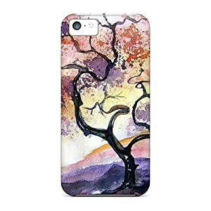 Iphone 5c Case Slim [ultra Fit] Oriental Painting Protective Case Cover