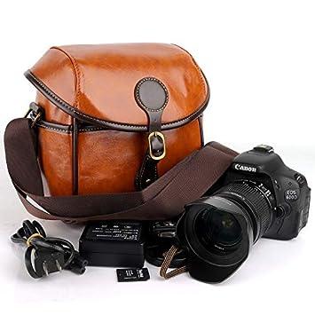 Funda de Piel sintética para cámara réflex Digital Canon EOS 750D ...