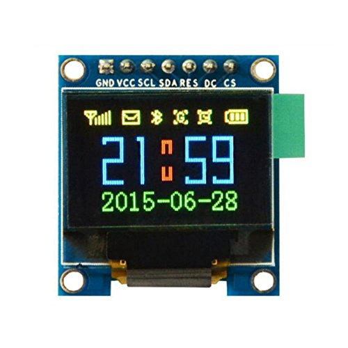 HiLetgo 0.95'' Inch 7 Pin Colorful 65K SPI OLED Display Module SSD1331 9664 Resolution For 51 STM32 Arduino by HiLetgo®