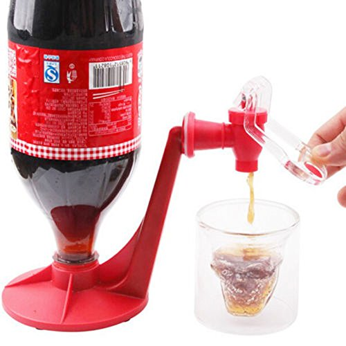 Geekercity Fashion Creative Home Bar Coke Fizzy Soda Dispenser Bottle Coke Upside Down Drinking Water Dispense Machine Faucet Home Bar Party Gadget (Drinking Glasses Pictures)