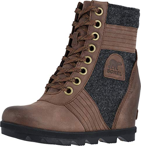 Sorel - Women's Lexie Wedge Waterproof Lace-Up Ankle Boot, Tobacco, 7 M US