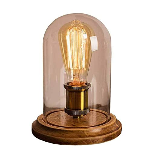 GCCLCF Lámpara de Mesa Vintage, lámpara de Mesa, Pantalla de ...