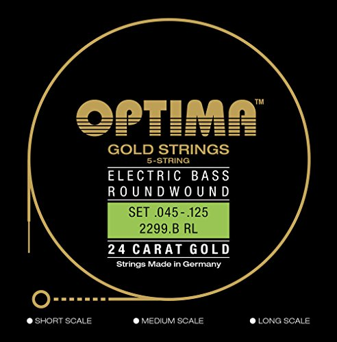 Optima 2299/B LS Bass GOLD Strings, Long Scale, 5-string Low ()