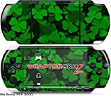 Sony PSP 3000 Decal Style Skin - St Patricks Clover Confetti