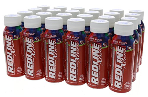 VPX Redline Xtreme Energy Ready to Drink, Sour Heads 8-Ounce Bottle, 24 Count