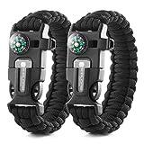 X-Plore Gear Emergency Paracord Bracelets   Set of