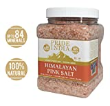 Pride Of India - Himalayan Pink Salt - 84+ Natural Mineral Enriched