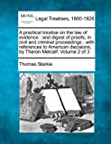 A practical treatise on the law of evidence : and digest of proofs, in civil and criminal proceedings : with references to American decisions, by Theron Metcalf. Volume 2 Of 3, Thomas Starkie, 1240038798