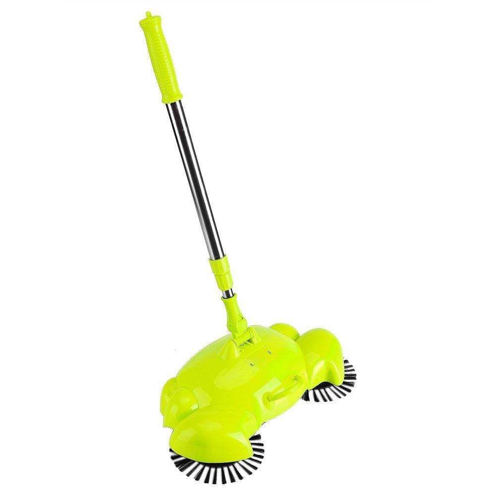 spazzare macchina pratico Household Hand Push Sweeper scopa rotante a 360gradi macchina di pulizia senza elettricità Green Yosoo