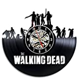The Walking Dead Art Vinyl Wall Clock Gift Room Modern Home Record Vintage Decoration For Sale