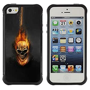 "Hypernova Defender Series TPU protection Cas Case Coque pour Apple iPhone SE / iPhone 5 / iPhone 5S [Cráneo Flam Oscuro""]"