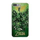 Green Gold Zelda iPhone 5 Case The Legen Zelda iPhone 5S Cover 5 SE Gaming Themed Link Ocarina Time Majoras Mask Wind Waker Gannon Tri Force Master Sword, Hard Plastic
