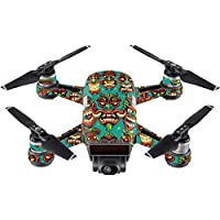 Skin For DJI Spark Mini – Crazy Tikis | MightySkins Protective, Durable, and Unique Vinyl Decal wrap cover | Easy To Apply, Remove, and Change Styles | Made in the USA