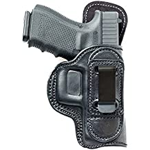 """Tuckable (IWB) Leather Holster For Kimber 1911 3"""". Inside The Pants Holster For Tuck In Shirt Conceal Carry."""