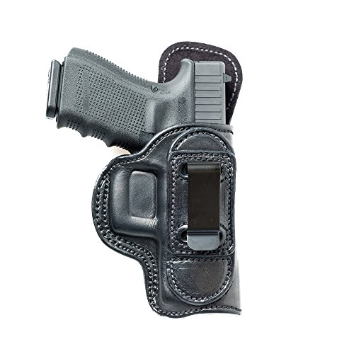 Tuckable (IWB) Leather Holster for Glock 19, 23. Inside The Pants Holster for Tuck in Shirt Conceal Carry.