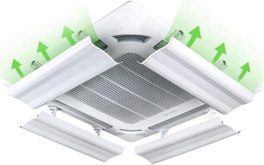 JJSFJH Aire acondicionado viento Universal Central Anti-recto Soplado Salida de aire frío Deflector Deflector Campana Ventilación Aire acondicionado Parabrisas Plegable General Tipo de suspensión de p: Amazon.es: Hogar