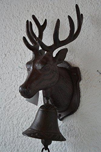 Türglocke- sehr stabile Türglocke Hirsch aus Gusseisen- mit schönem Klang-für Haus und Garten