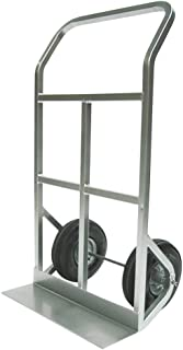 "product image for Raymond Steel Hand Truck with Angled Handle, Airless Rubber Wheels, 600 lbs Load Capacity, 14"" Depth"