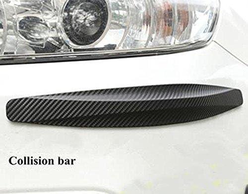 beler 6pcs 2 x L 2 x M 2 x S Carbon Fiber Texture Bumper Spoiler Strip Anti-rub Scratch Guard Sticker